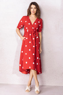 Capture Mock Wrap Dress - 235953