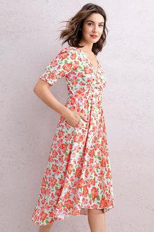 Capture Mock Wrap Dress - 235953
