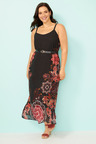 Sara Print Chiffon Maxi Dress