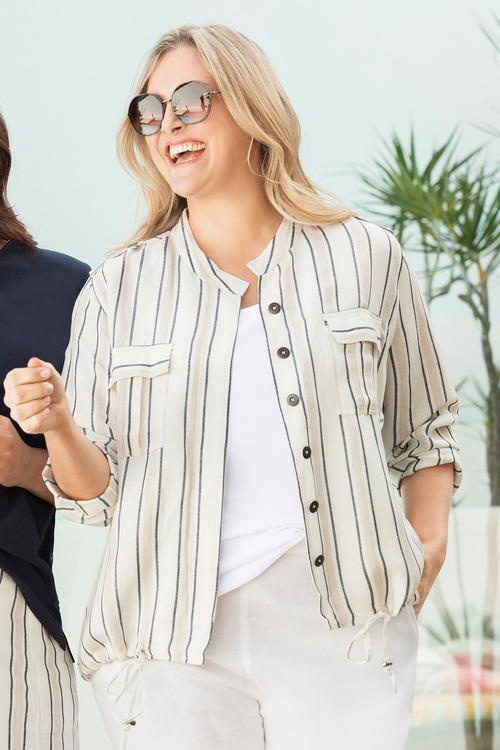 Sara Stripe Jacket