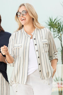 Plus Size - Sara Stripe Jacket - 235957