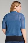 Plus Size - Sara Self Stripe Cardi