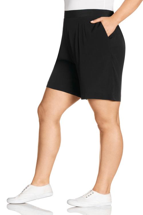 Plus Size - Sara Viscose Shorts