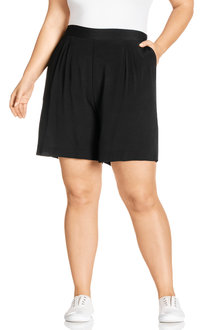 Plus Size - Sara Viscose Shorts