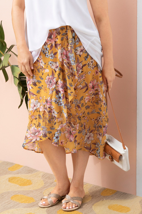Plus Size - Sara Frill Skirt