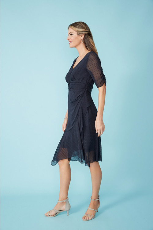Simply You Silk Ruched Dress