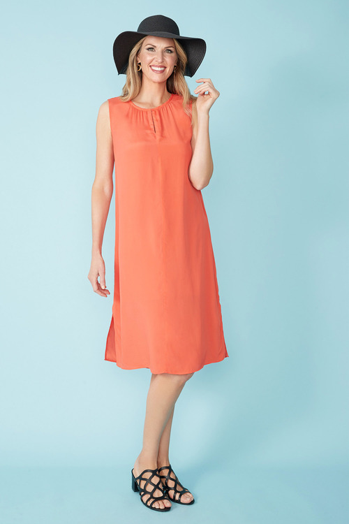 Simply You Silk Blend Shift Dress