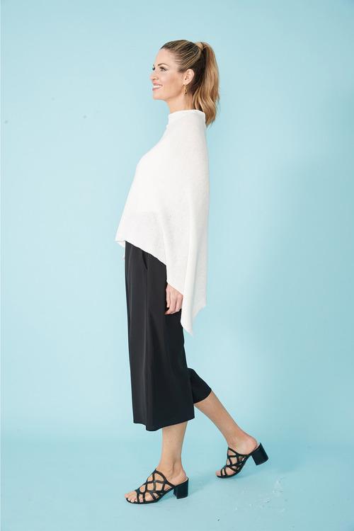 Simply You Linen Cotton Poncho
