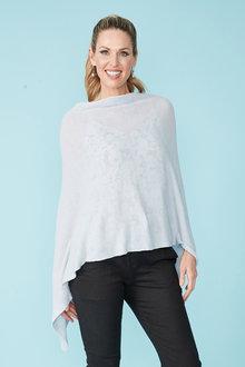 Simply You Linen Cotton Poncho - 236008