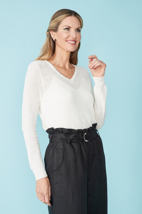Simply You Linen Cotton Sweater