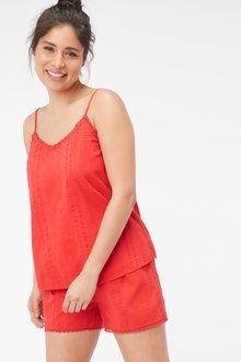 Next Textured Cotton Cami Short Set