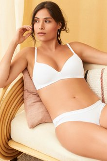 Next Lightly Padded Non Wired Organic Cotton Bra