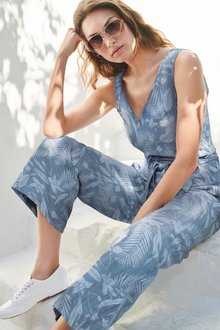 Next Wrap Tie Jumpsuit - 236061