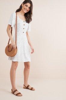 Next Spot Print Button Dress