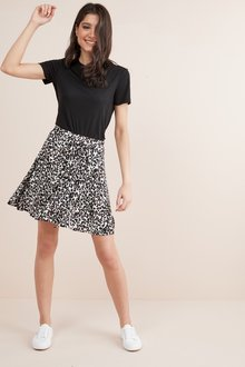 Next Wrap Short Skirt