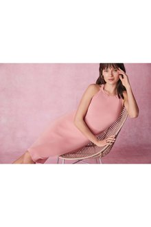 Next Halter Lace Back Dress