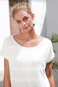 Next Sequin Stripe T-Shirt - 236134