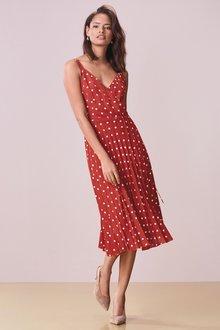 Next Pleated Wrap Dress