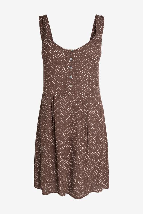 Next Button Detail Dress