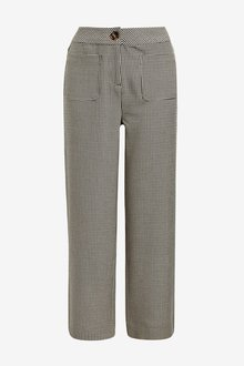 Next Check Cropped Trousers