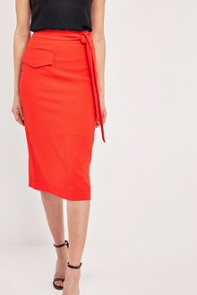 Next Utility Pocket Belted Pencil Skirt