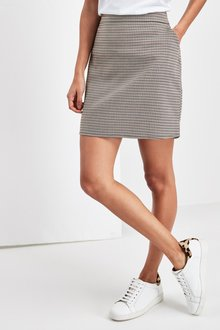 Next Dogtooth Check Mini Skirt