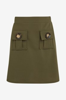 Next Button Mini Skirt