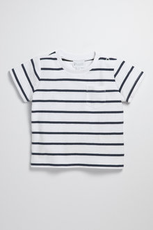 Pumpkin Patch Infants Reverse Stripe Tee