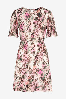 Next Blurred Animal Print Dress