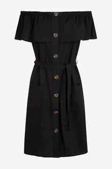 Next Bardot Button Dress