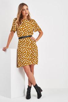 Next Short Sleeve Tea Dress