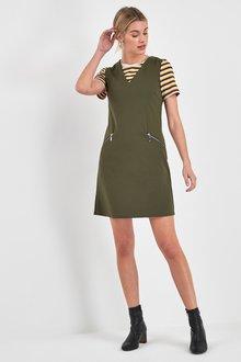 Next Sleeveless Crepe Jersey Mini Dress