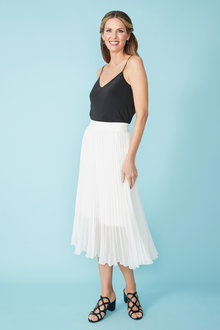 Simply You Pleated Midi Skirt - 236240