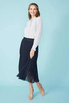 Simply You Pleated Midi Skirt