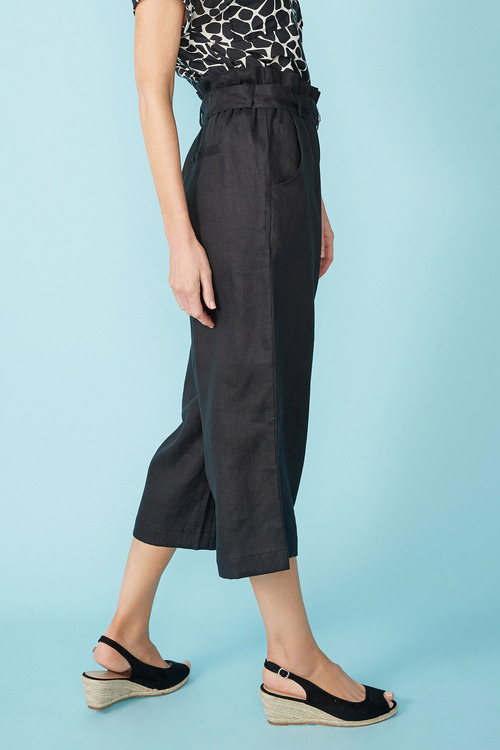 Simply You Linen Belted Culottes