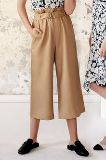 Simply You Linen Belted Culottes - 236243
