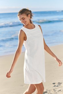 Next Linen Blend Shift Dress