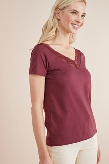 Next Wide Neck Lace Tee