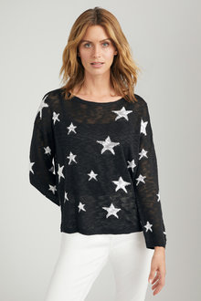 Emerge Star Print Sweater