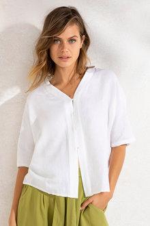 Emerge Linen Blend Button Shirt