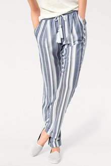 Heine Striped Drawstring Pants - 236330
