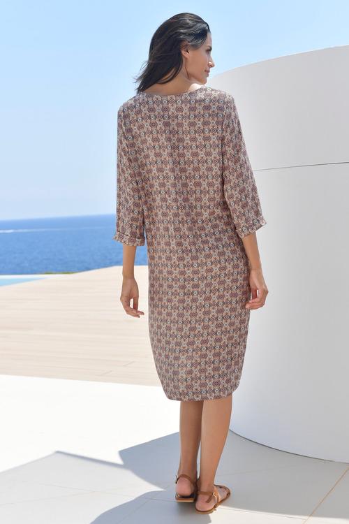 Euro Edit Printed Tunic Dress
