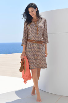 Euro Edit Printed Tunic Dress