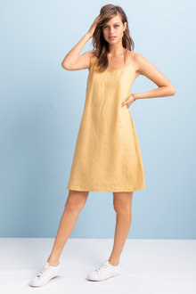 Emerge Linen Slip Dress - 236353