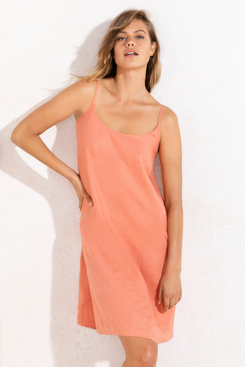 Emerge Linen Slip Dress