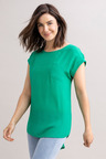 Capture Cuffed Sleeved Shell Top