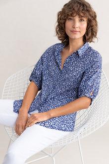 Capture Elbow Length Cotton Shirt - 236372