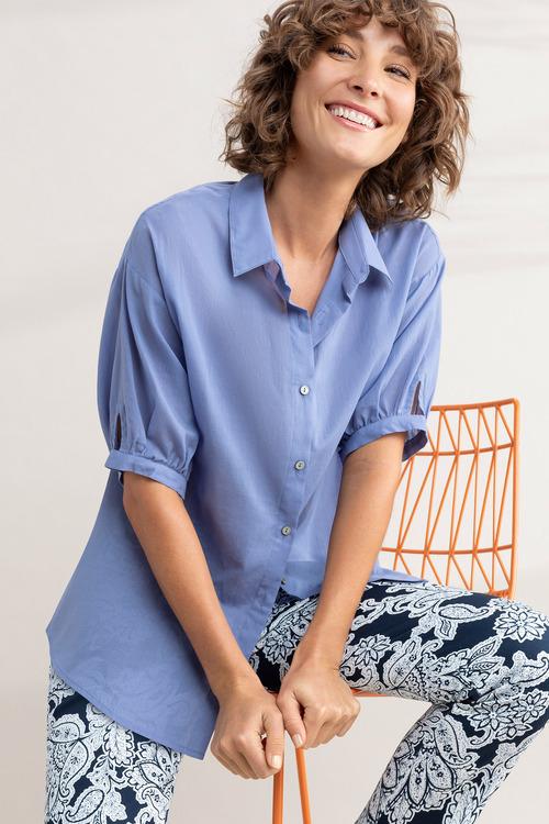 Capture Elbow Length Cotton Shirt