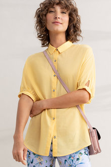 Capture Elbow Length Cotton Shirt - 236372