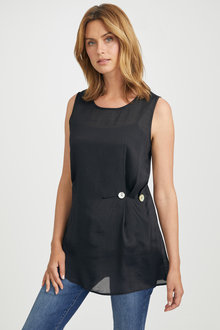 Capture Longline Button Detail Top - 236374